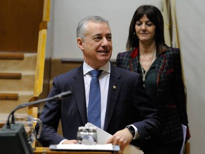 Los candidatos a lehendakari del PNV y del PSE-EE, Iñigo Urkullu e Idoia Mendia.