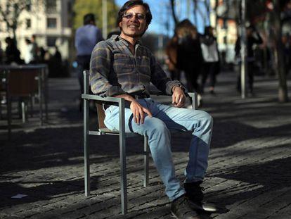 Milthon Robles, fotografiado esta semana en una calle de Madrid.