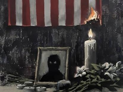 Detalle de la imagen que ha publicado Banksy en su Instagram.