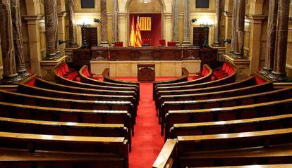 El Parlamento de Cataluña, poco después de que Torrent anunciase que se firmará el decreto para la convocatoria de elecciones.