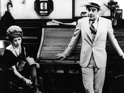Jack Lemmon y Carol Burnett, en 'Primera plana'.