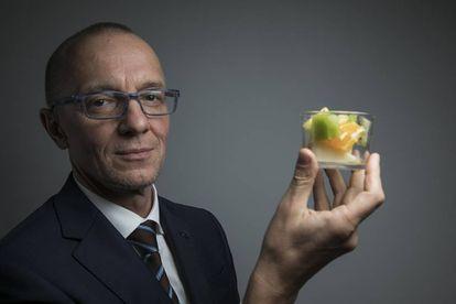 El austriaco Bernhard Url, director de la Agencia Europea de Seguridad Alimentaria, antes de la entrevista.