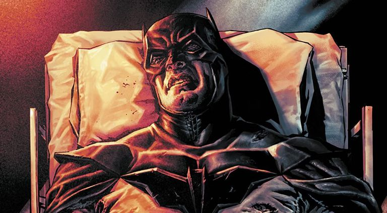 Detalle de una viñeta de 'Batman: Damned', de Brian Azzarello y Lee Bermejo.