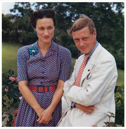 Wallis Simpson y Eduardo VIII en Nassau, Bahamas, en 1942.