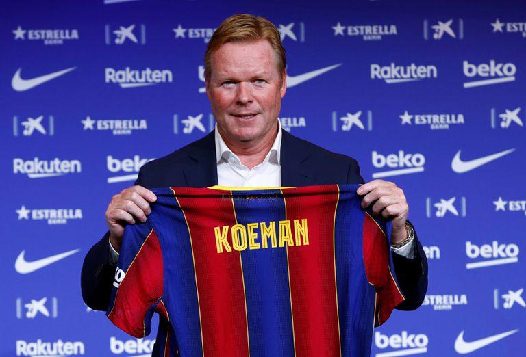 Koeman, en su presentación como entrenador del Barcelona.