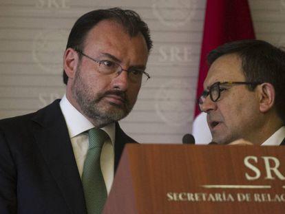 Videgaray y Guajardo, en mayo pasado.