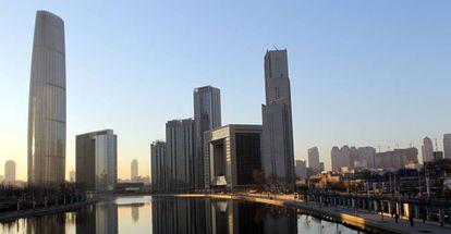 Vista de la ciudad de Tianjin, en China.