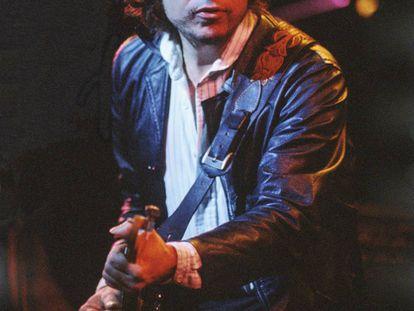 Bob Dylan durante un concierto en el Warfield Theatre de San Francisco, en noviembre de 1979.