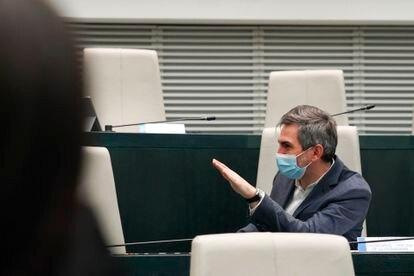 Pepe Aniorte, delegado del área social, durante el Pleno del mes pasado