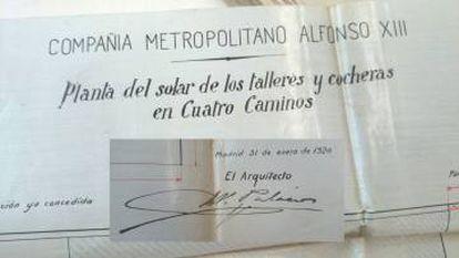 Firma ampliada del documento, con la rúbrica de A. Palacios.