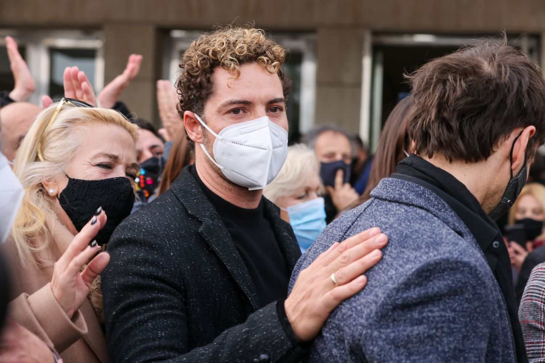 David Bisbal en el funeral de su compañero de 'Operación Triunfo', Àlex Casademunt.