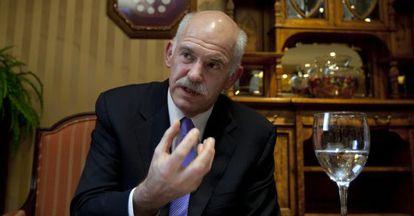 El expresidente griego, Yorgos Papandreu.