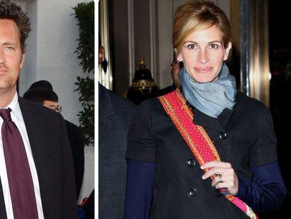 Los actores Matthew Perry y Julia Roberts.