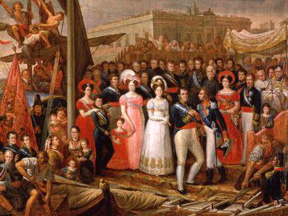 Copia de 'El desembarco de Fernando VII en el Puerto de Santa María'.