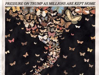 Obra del artista Fred Tomaselli, publicada en 'The New York Times' el 21 de marzo de 2020.