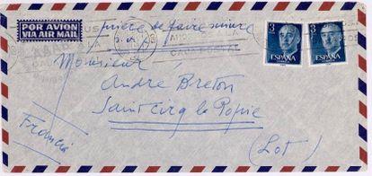 Carta inédita de Joan Miró a André Breton, del 26 de agosto de 1959.