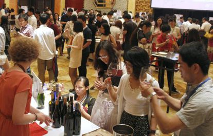 Presentación en Pekín de vinos de la Denominación de Origen La Mancha.