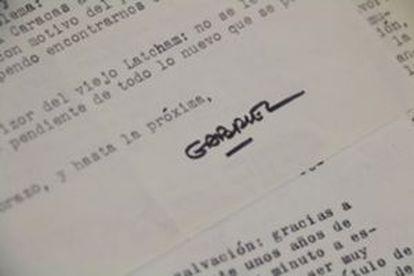 Firma de Gabriel García Márquez.