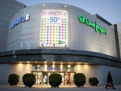 El centro comercial Hipercor-El Corte Inglés de Cornellà de Llobregat.