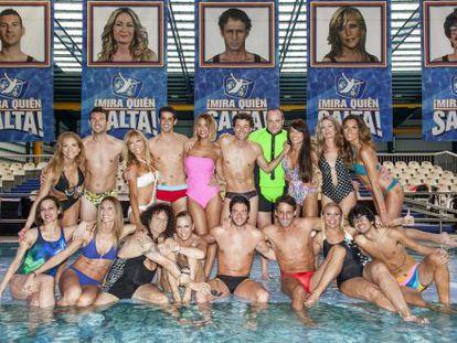 Los 18 concursantes de 'Mira quien salta'.