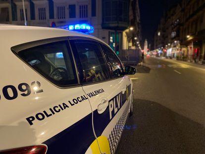 Una patrulla de la Policía Local de Valencia.