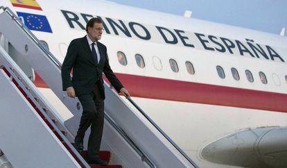 Mariano Rajoy llega a Washington para entrevistarse con el presidente de Estados Unidos, Donald Trump.