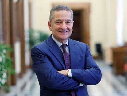 Fabio Panetta, fotografiado en Roma.