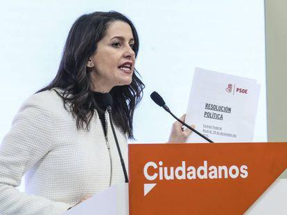 La portavoz de Ciudadanos en el Congreso, Inés Arrimadas. En vídeo, declaraciones de Arrimadas.
