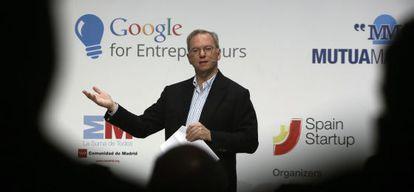 Eric Schmidt, presidente de Google, durante una visita a España.