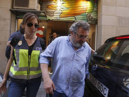 Víctor Terradellas, presidente de Catmon, detenido en mayo de 2018 en Barcelona.