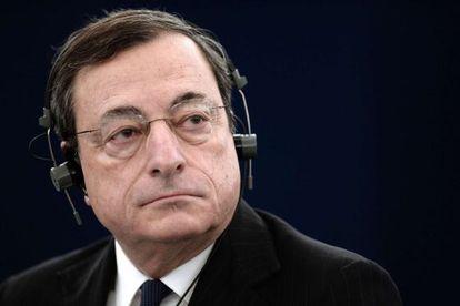 El presidente del BCE, Mario Draghi, en la Eurocámara.