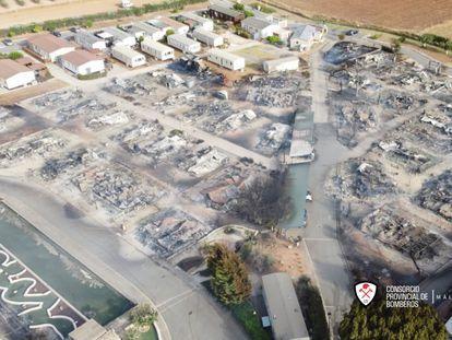 Imagen aérea del estado en el que ha quedado el recinto de Mollina.