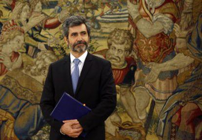 Carlos Lesmes, en La Zarzuela, el pasado martes.