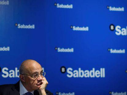 El presidente del Banco Sabadell, Josep Oliu, en una imagen de archivo.