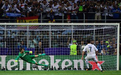 Cristiano lanza el penalti que le da al Madrid la Undécima.