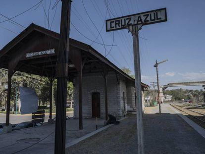 La estación de tren de Ciudad Cooperativa Cruz Azul.