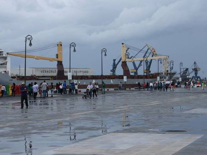 Vista del puerto de Veracruz.