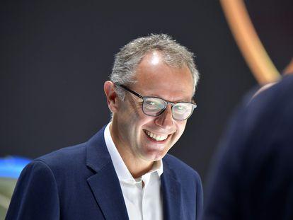 Stefano Domenicali, en septiembre de 2019 en Frankfurt.