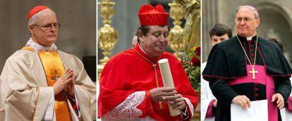 Los brasileños Odilo Pedro Scherer y João Braz de Aviz, y el argentino Leonardo Sandri, son algunos de los papables no europeos.