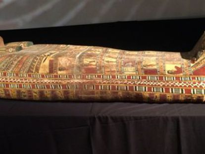 Sarcófago con más de 2.300 años, recuperado por Egipto.