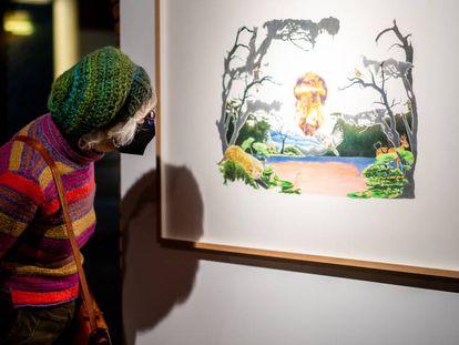 Juana García-Pozuelo es una de las diez artistas locales que expone en esta primera colección de la Artoteka