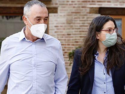 El diputado Joan Baldoví y la vicepresidenta Mónica Oltra.