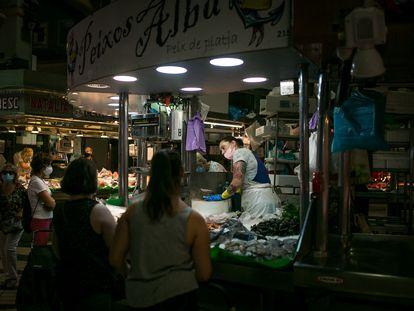Mercado de Collblanc, una de las zonas más afectadas en las últimas semanas por contagios de la Covid-19