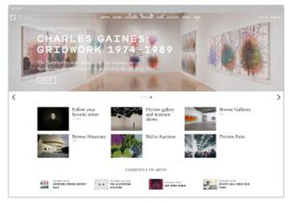 Web de la plataforma digital Artsy.