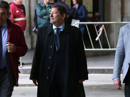 Francisco Javier Guerrero, a su llegada a la Audiencia de Sevilla en una imagen de noviembre de 2019.