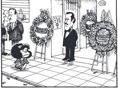Viñeta de 'El amor, según Mafalda', de Quino, publicado en Lumen Gráfica.