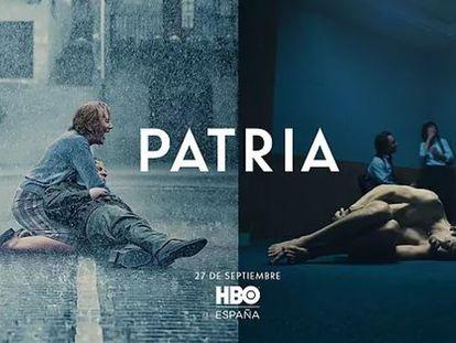 Imagen difundida por HBO del cartel de la serie 'Patria'.
