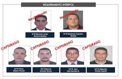 Algunos de los ciudadanos colombianos involucrados en el asesinato del presidente de Haití Jovenel Möise.