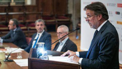 José Creuheras, ayer durante su intervención en el foro Edita Barcelona.