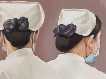 'Just like in the mirror 2', Zang Hui (2018), de la exposición 'Meditations in an emergency'. |
